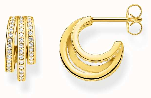 Thomas Sabo | Gold Ring Hoop Earrings | 18K Gold Plated Sterling Silver CR652-414-14