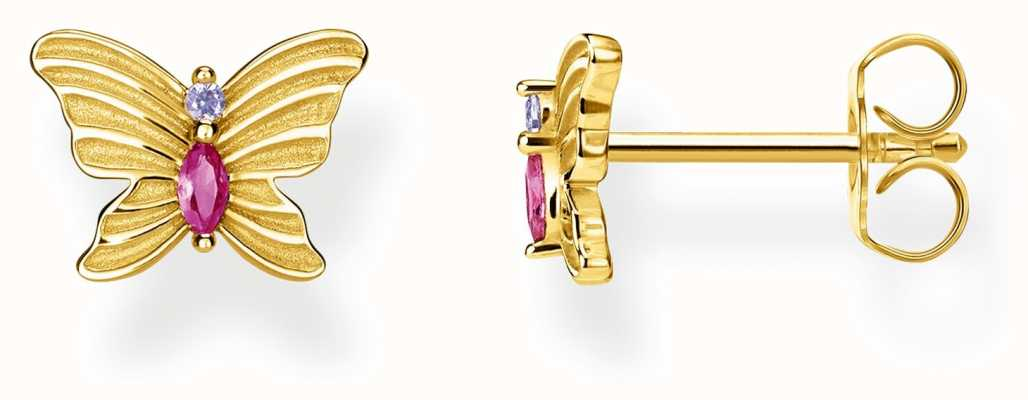 Thomas Sabo | Gold Plated Butterfly Stud Earrings | H2100-995-7