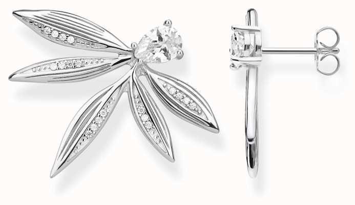 Thomas Sabo | Sterling Silver Leaf Stud Earrings | H2106-051-14