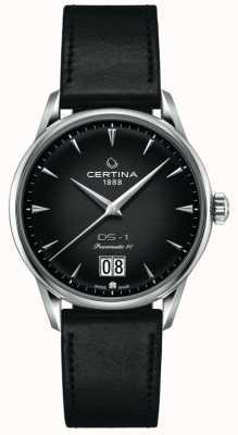 Certina DS-1 Big Date | Powermatic 80 | Black Leather Strap C0294261605100