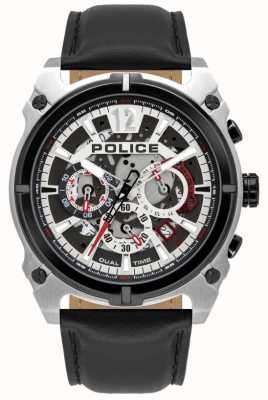 Police Men's Antrim | Chronograph | Black Leather Strap 16020JSTB/04