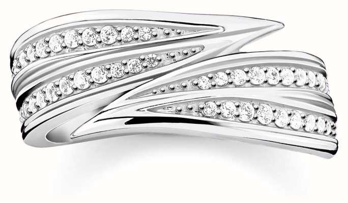 Thomas Sabo   Sterling Silver Leaves Ring   54 TR2283-051-14-54