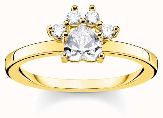 Thomas Sabo | Glam And Soul | Gold Cat Paw Ring | 54 TR2289-414-14-54