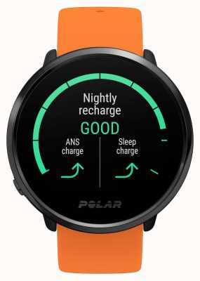 Polar | Ignite | Orange Rubber Strap | GPS Heart Rate Monitor| M/L 90081718
