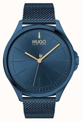 HUGO #SMASH | Blue Steel Mesh Bracelet | Blue Dial | 1530136