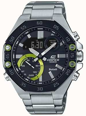 Casio | Edifice Bluetooth | Gunmetal Grey | Black Dial ECB-10DB-1AEF