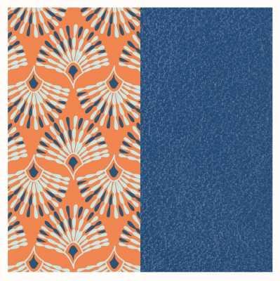 Les Georgettes 14mm Leather Insert | Peacock Orange/Denim Blue 702145899P0000