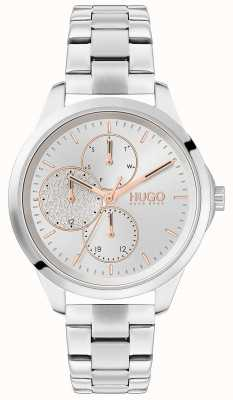 HUGO #FEARLESS | Silver Dial | Stainless Steel Bracelet 1540048