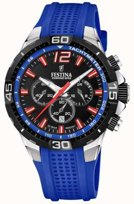 Festina Chrono Bike 2020 Black Dial Blue Strap F20523/1