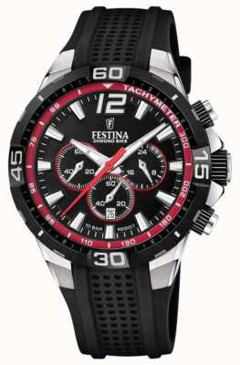 Festina Chrono Bike 2020 Black Rubber Strap Black Dial F20523/3