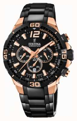 Festina Chrono Bike 2020 Back Dial Black Steel Bracelet F20525/1