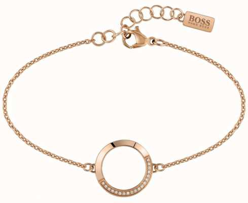 BOSS Jewellery Ophelia Rose Gold PVD Stainless Steel 180mm 1580026