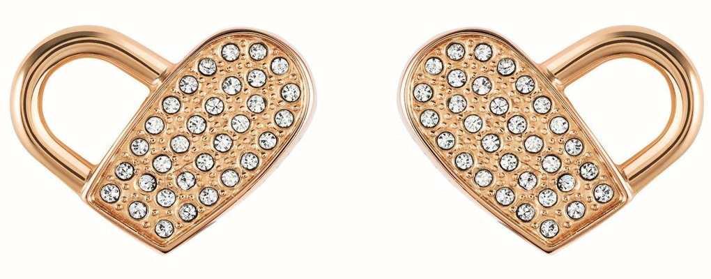 BOSS Jewellery Soulmate  Heart Rose Stud Earrings 1580074
