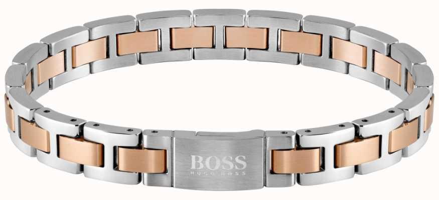 BOSS Jewellery Metal Link Essentials Two Tone 200mm 1580056