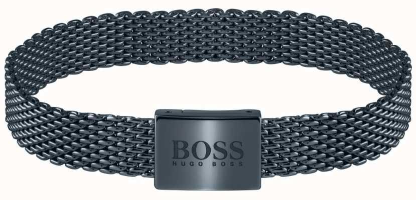BOSS Jewellery Essentials Blue PVD Steel Mesh Bracelet 180mm 1580040M