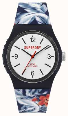 Superdry Floral Silicone Strap | White Dial SYG298U