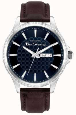 Ben Sherman | Men's Brown Leather Strap | Blue Dial BS029BR