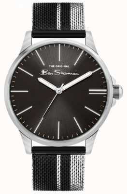 Ben Sherman | Men's Two-Tone Steel Mesh Bracelet | Black Dial BS032BSM