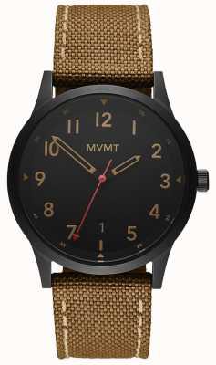 MVMT | Field | Brown Canvas Strap | Black Dial 28000017-D