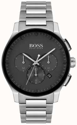 BOSS | Men's Peak | Stainless Steel Bracelet | Black Dial | 1513762