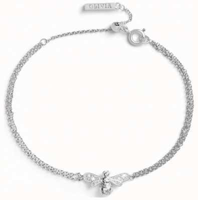 Olivia Burton Sparkle Bee Silver Bracelet OBJAMB120