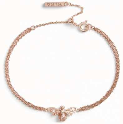 Olivia Burton Sparkle Bee Rose Gold Bracelet OBJAMB122
