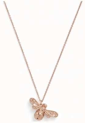Olivia Burton Sparkle Bee Rose Gold Necklace OBJAMN59