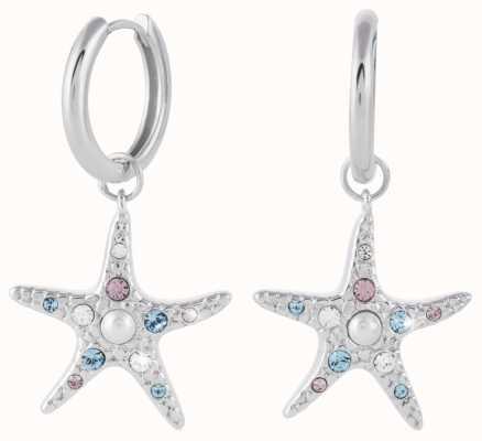 Olivia Burton Starfish Sparkle Silver Huggie Earrings OBJSCE33