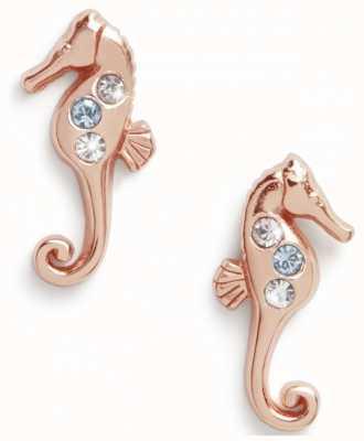 Olivia Burton Seahorse Sparkle Rose Gold Stud Earrings OBJSCE38