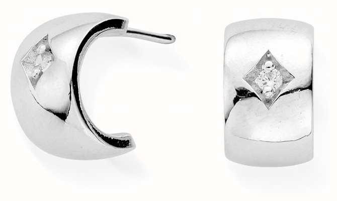ChloBo Drop Of Hope Huggie Earrings | Sterling Silver SEH3021
