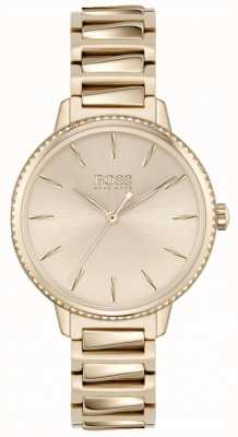 BOSS Women's Signature | Rose Gold Steel Bracelet |Rose Gold Dial 1502540