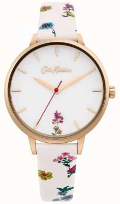 Cath Kidston | Women's Cream Floral Leather Strap | White Dial CKL100WRG