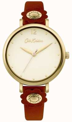 Cath Kidston | Women's Tan Leather Strap | Silver Dial CKL101TG