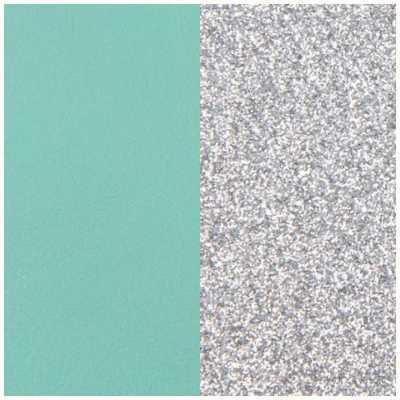 Les Georgettes 43mm Vinyl Insert   Earrings   Aqua/Silver Glitter 703218484CX000
