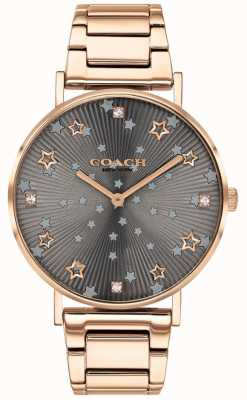 Coach | Women's Perry | Rose Gold PVD Bracelet | Grey Star Dial 14503524
