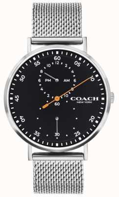 Coach | Men's Charles | Steel Mesh Bracelet | Black Dial 14602477