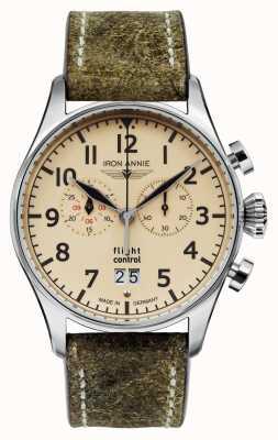 Iron Annie Flight Control Quartz | Brown Strap | Beige Dial 5186-5