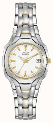 Citizen Womens Two-Tone with White Dial Eco-drive EW1254-53A