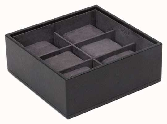 WOLF Stackable Watch Tray Black 6Pc Standard 309703