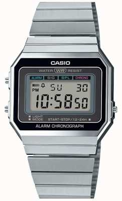 Casio Vintage | Silver Bracelet | Digital Dial | A700WE-1AEF