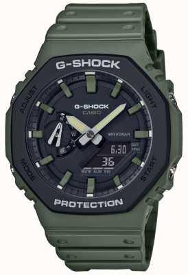 Casio G-Shock | Carbon Core | Green Rubber Strap | Digital Display GA-2110SU-3AER