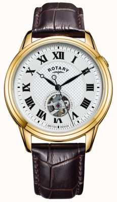 Rotary Cambridge Automatic | Brown Leather Strap | Silver Dial GS05368/70