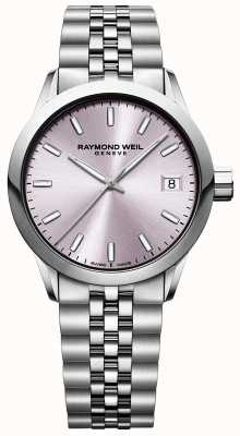 Raymond Weil Women's Freelancer | Stainless Steel Bracelet | Pink Dial 5634-ST-80021