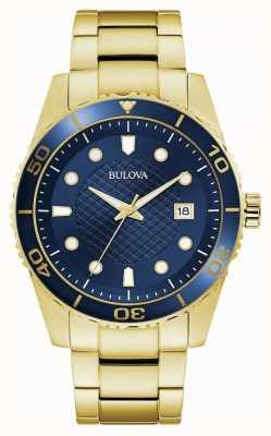 Bulova Sport | Gold Stainless Steel Bracelet | Blue Dial 98A197