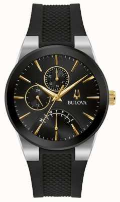 Bulova Men's | Futuro | Black Dial | Black Rubber Strap 98C138