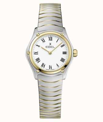 EBEL Women's Sport Classic 24mm White Dial Two Tone Bracelet Stainless 1216384A