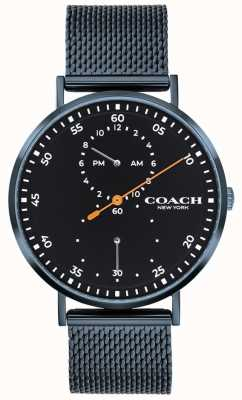 Coach Charles Blue Mesh Bracelet Watch 14602478