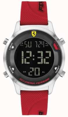 Scuderia Ferrari Men's Digitrack | Red Rubber Strap | Black Digital Dial 0830757