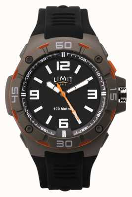 Limit Men's Black Rubber Strap | Black Dial 5788.65