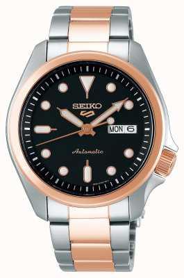 Seiko Men's 5 Sports Automatic Watch | Two Tone SRPE58K1